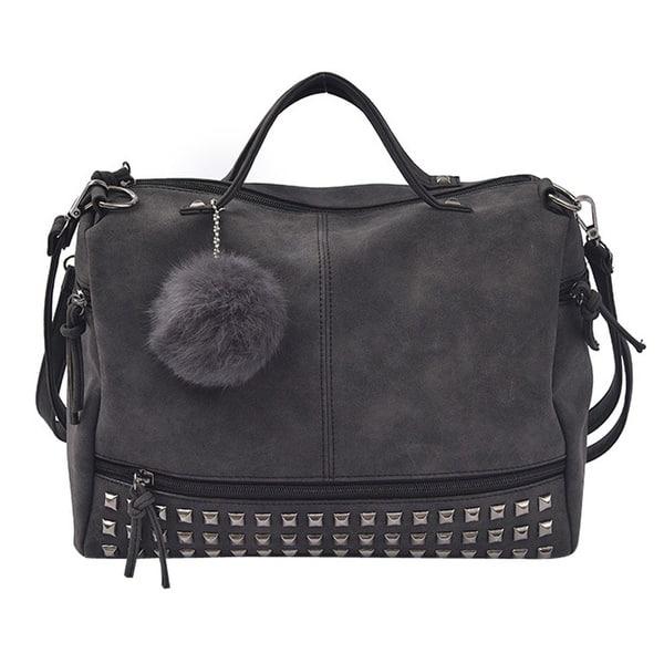 Women Rivet Tote Satchel Shoulder Bag Ladies Travel Handbag Large Tote Unisex PU