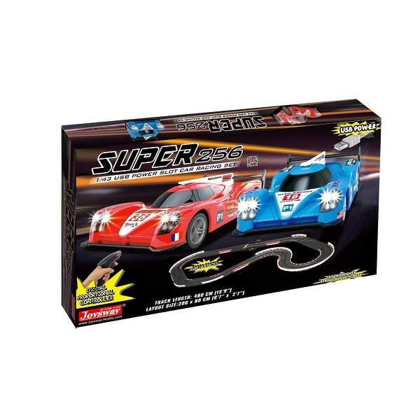 JOYSWAY Super 256 USB Power Slot Car Racing set. Opens flyout.