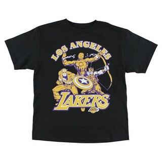 Marvel Boys Los Angeles Lakers Marvel T Shirt Black Black Yellow Purple