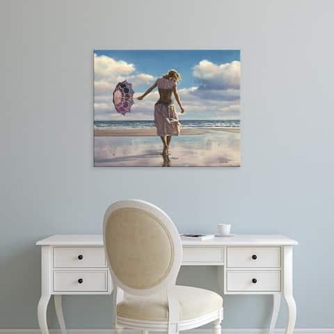 Easy Art Prints Paul Kelley's 'Walking on Broken Clouds' Premium Canvas Art