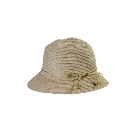 August Hat Beige Lurex Classical Toyo Cloche OS