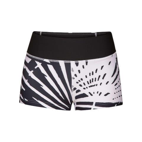 Hurley Black White Women's Size XS Boy Shorts Geo Printed Swimwear