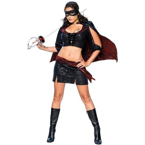 Lady Zorro Sassy Outfit size M Womens Costume Licensed Secret Wishes
