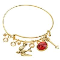 Mockingbird Deluxe Charm Bangle Bracelet  - Exclusive Beadaholique Jewelry Kit