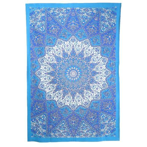 Oussum Boho Design Handmade Tapestry Hanging Wall Decor Blanket Mandala Art Living Room Decorative (143X204cm)