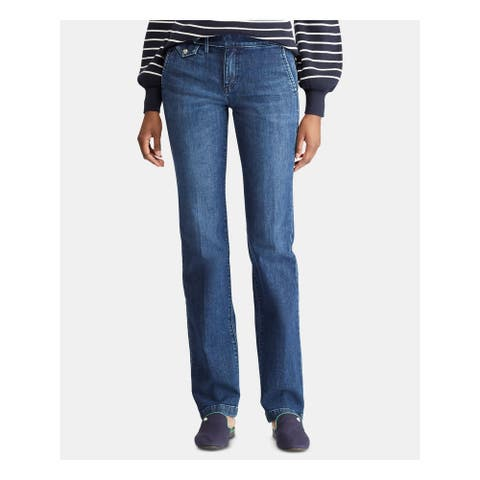 RALPH LAUREN Womens Navy Straight leg Jeans Size 10