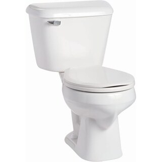 Mansfield 130-160 Alto 1.6 GPF Two-Piece Round Toilet - Seat Included