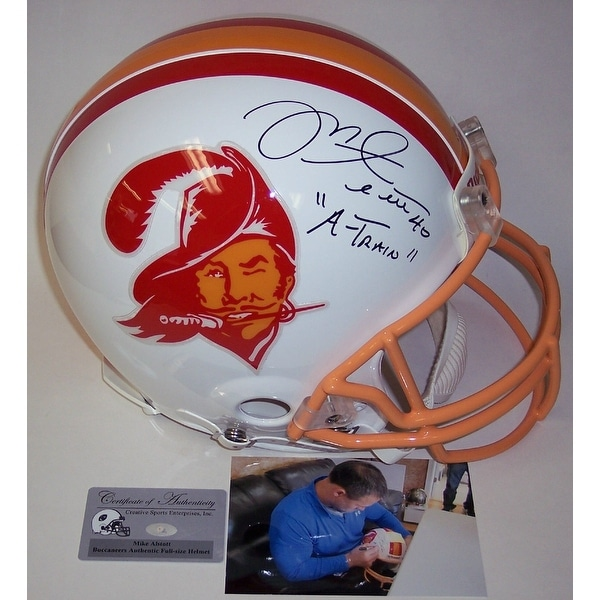 the latest d3170 e31cc Mike Alstott Autographed Hand Signed Tampa Bay Buccaneers Throwback  Authentic Helmet - PSA/DNA