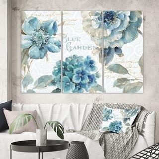 Designart 'My Greenhouse Cottage Flowers I' Farmhouse Canvas Artwork