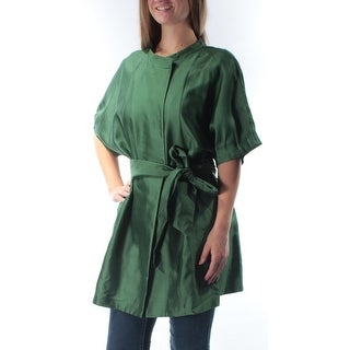 ARMANI $1425 Womens New 2125 Green Belted Bell Sleeve Tunic Top 8 B+B