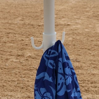 Sunnydaze Beach Umbrella Hanging Hook Accessory for Camping Picnic and Lake Days