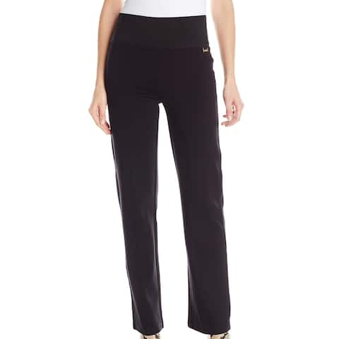 Calvin Klein Womens Pants Black Large L Center Seam Straight Ponte Knit