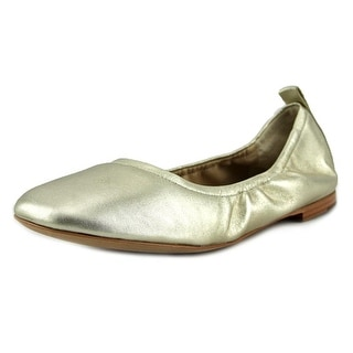 Marc Fisher Frey Women Round Toe Leather Gold Ballet Flats