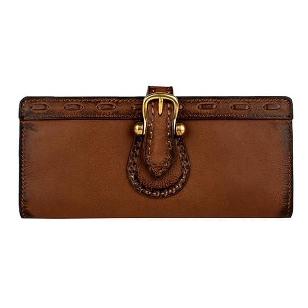 Scully Western Mens Wallet Pebbled Calf Buckle Tab Brown - One size