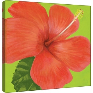 "PTM Images 9-100070  PTM Canvas Collection 12"" x 12"" - ""Flower Art 9"" Giclee Hibiscus Art Print on Canvas"