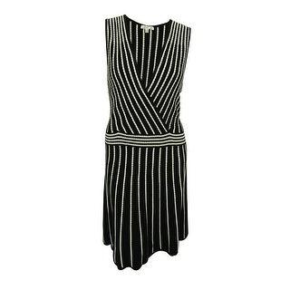 Spense Women's Sleeveless Surplice Sweater Dress - 2x