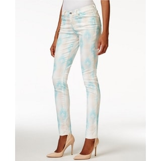 Big Star NEW Pink Blue Abstract Print Women's 27X30 Slim Skinny Jeans