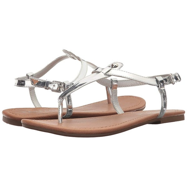 Rampage Womens Pashmina Split Toe Casual T-Strap Sandals