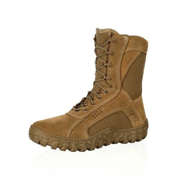 "Rocky Tactical Boots Mens 8"" Uniform Compliant S2V Coyote Brown"