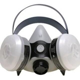 Sperian 366184 Survivair Half Mask OV/N95 Silicone Respirator, Medium, Gray