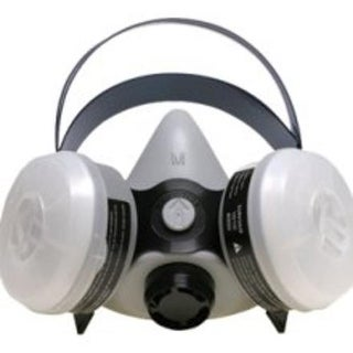 Sperian 376184 Survivair Half Mask OV/N95 Silicone Respirator, Large