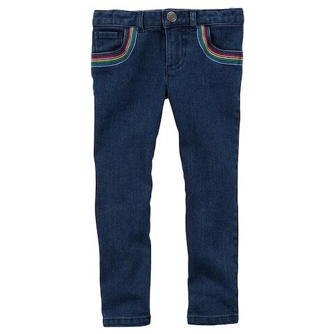 Carter's Little Girls' Rainbow Jeans, 2-Toddler