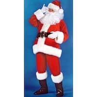 Santa Claus Velvet Christmas Costume Men's Plus Size (50-54) - RED