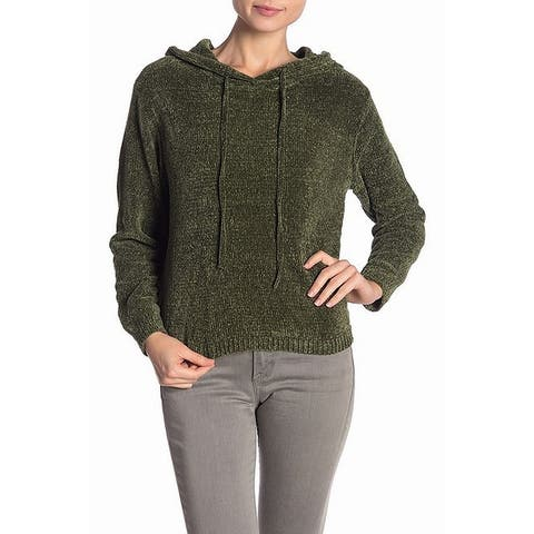 1f4a0d4df Cotton Emporium Olive Green Womens Size Small S Stretch Knit Hoodie