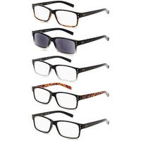 Eyekepper 5-Pack Vintage Reading Glasses Includes Sun Readers