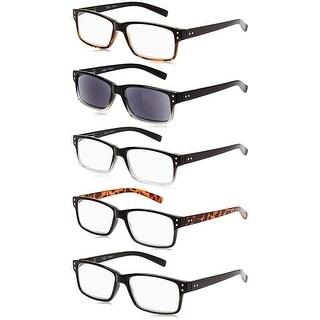 Eyekepper 5-Pack Vintage Reading Glasses Includes Sun Readers