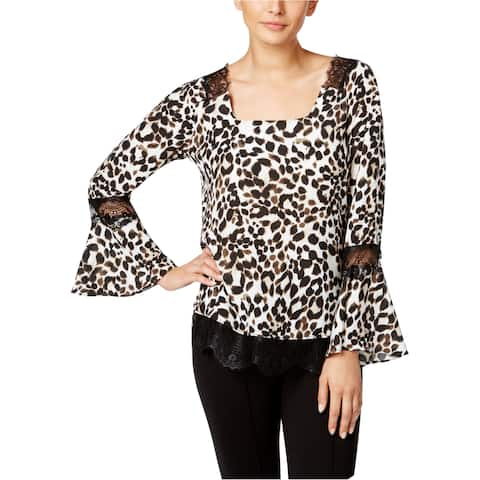 Ny Collection Womens Cheetah Pullover Blouse