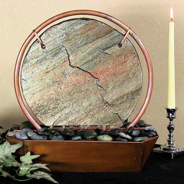 Sunnydaze Moonrise Tabletop Fountain Copper 18 Inch Tall