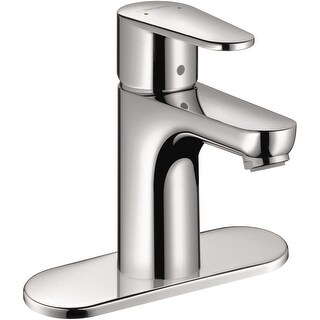 Hansgrohe 31612  Talis E 1.2 GPM Single Hole Bathroom Faucet with EcoRight, Quick Clean, and ComfortZone Technologies - Drain