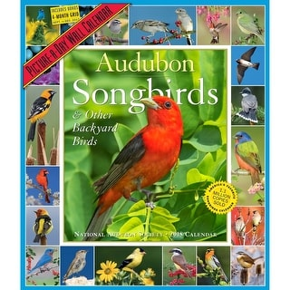 2018 Audubon Songbirds Wall Calendar