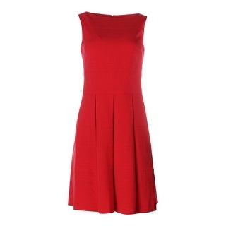Lauren Ralph Lauren Womens Pleated Sleeveless Wear to Work Dress