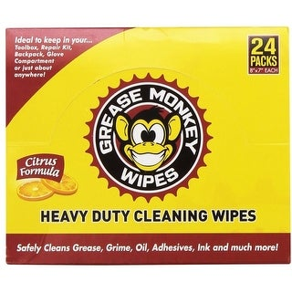 Grease Monkey 276029593-12PK Heavy Duty Cleaning Wipes, 24 Count