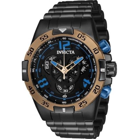 Invicta Men's 34989 'Corduba' Black Polyurethane Watch