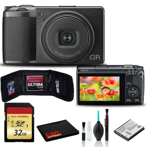 Ricoh GR III Digital Camera Includes Cleaning Kit and 32GB SD Memory