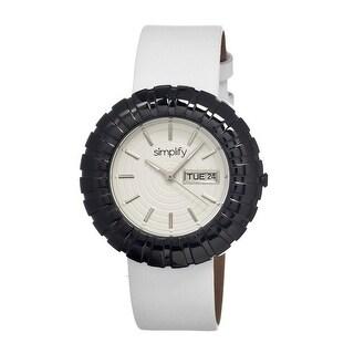 Simplify The 2100 Women's Quartz Watch, Genuine Leather Band, Luminous Hands