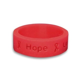 Red Ribbon Silicone Ring for Awareness Causes