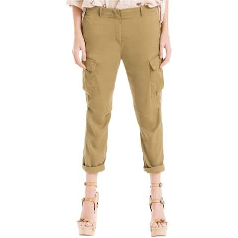 Max Studio London Womens Cuffed Casual Cargo Pants, green, 6
