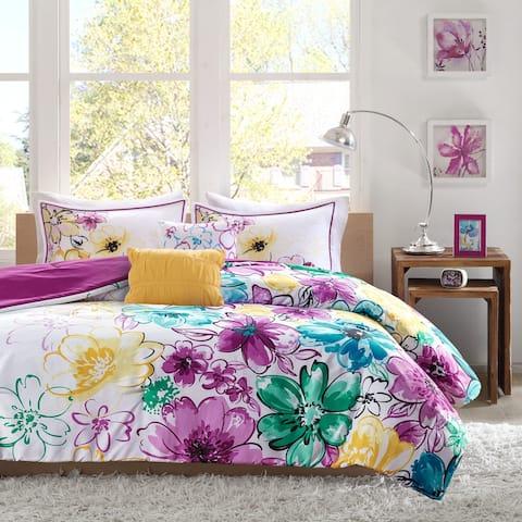 Ashley Floral Microfiber Comforter Set by Intelligent Design