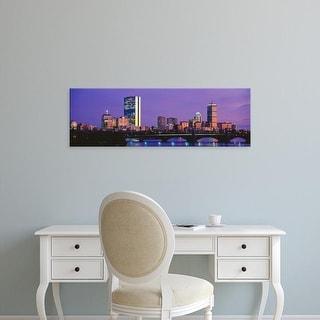 Easy Art Prints Panoramic Images's 'Charles River, Back Bay, Longfellow Bridge, Boston, Massachusetts' Canvas Art