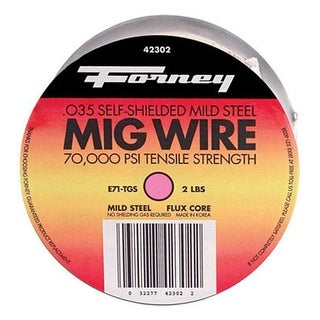 "Forney 42302 Flux Cored MIG Wire 0.035"", 2 lbs