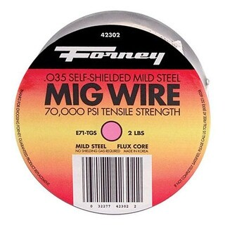 "Forney 42302 Flux Cored MIG Wire 0.035"", 2 lbs"