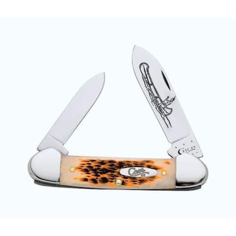 Case Canoe Amber Chrome Vanadium 3.63 in. Pocket Knife