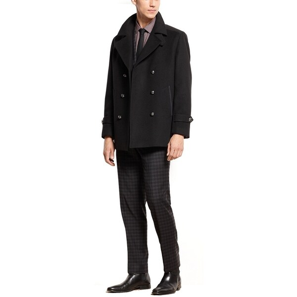 98de7bb94d26 Shop BAR III Mens Slim Fit Carnaby Collection Peacoat 42 Regular 42R Jet  Black - Free Shipping Today - Overstock - 15913038
