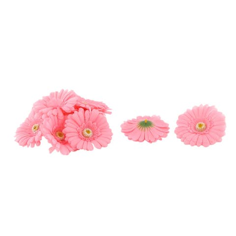 Wedding Party Fabric Handicraft DIY Decoration Table Desk Flower Heads Coral Pink 10 Pcs - Coral Pink
