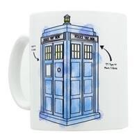 Doctor Who Watercolor TARDIS Mug - Multi