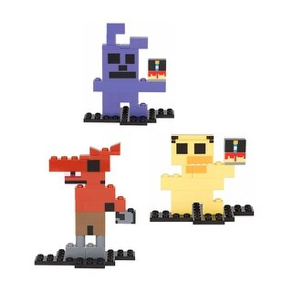 Five Nights at Freddy's 8-Bit Buildable Figure Bundle: Bonnie, Chica, Foxy - Multi